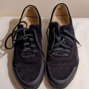 Harrys of London Men's Black suede sneakers
